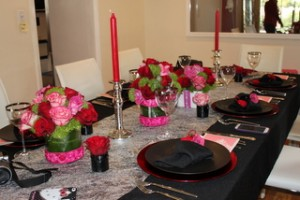 テーブルコーディネート ~ 大人のバレンタイン