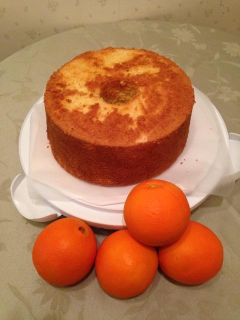 オレンジ・シフォンケーキ