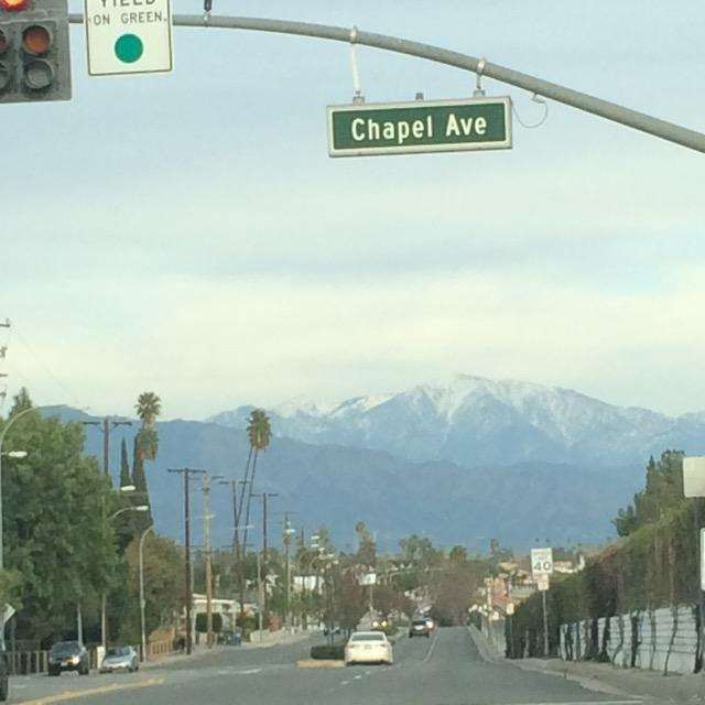 LAのローカル山は雪景色