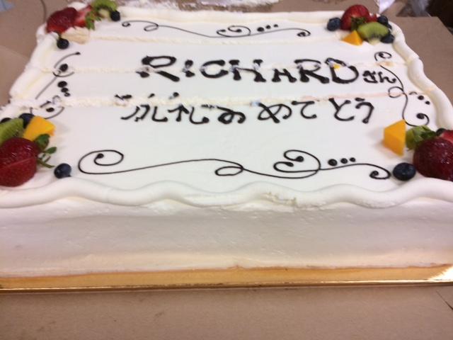受洗祝いのケーキ