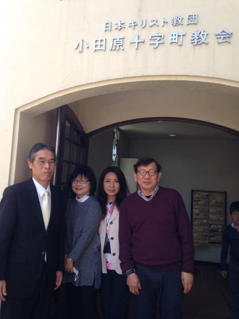 イースターの聖日は小田原十字町教会で迎えました。