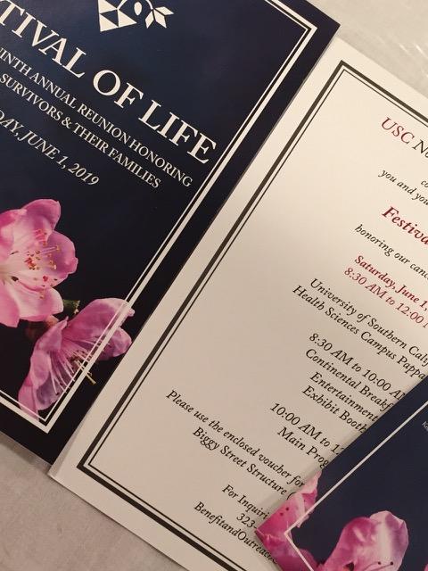 癌生存者の朝食会Festival Of Life―USCホスピタル